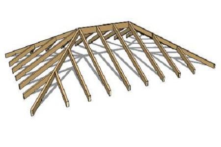 Стропила вальмовой крыши -