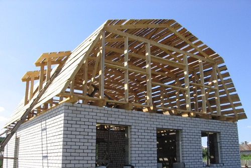 Фото как построить крышу дома