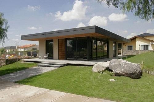 односкатные крыши частных домов фото