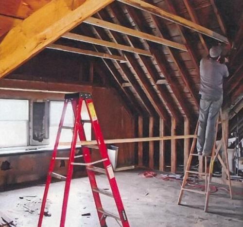 Усиление крыши