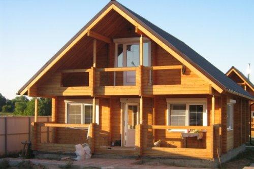 Фото двухскатной крыши дома