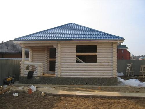 крыша дома шатровая
