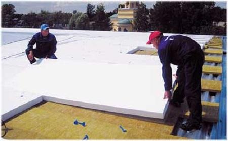 Утепление плоской деревянной крыши