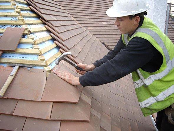 ремонт крыши на основе битумной черепицы