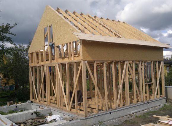 Процесс строительства каркасной крыши