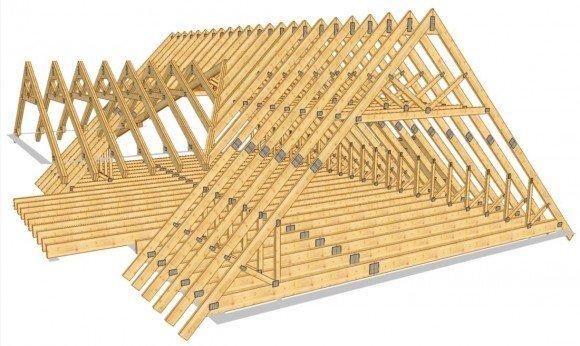 Стропильная система крыши с кукушкой