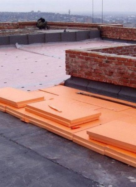 Наружное утепление крыши пенопластом