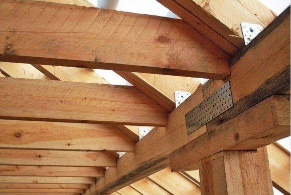 Стропильная система крестовой крыши