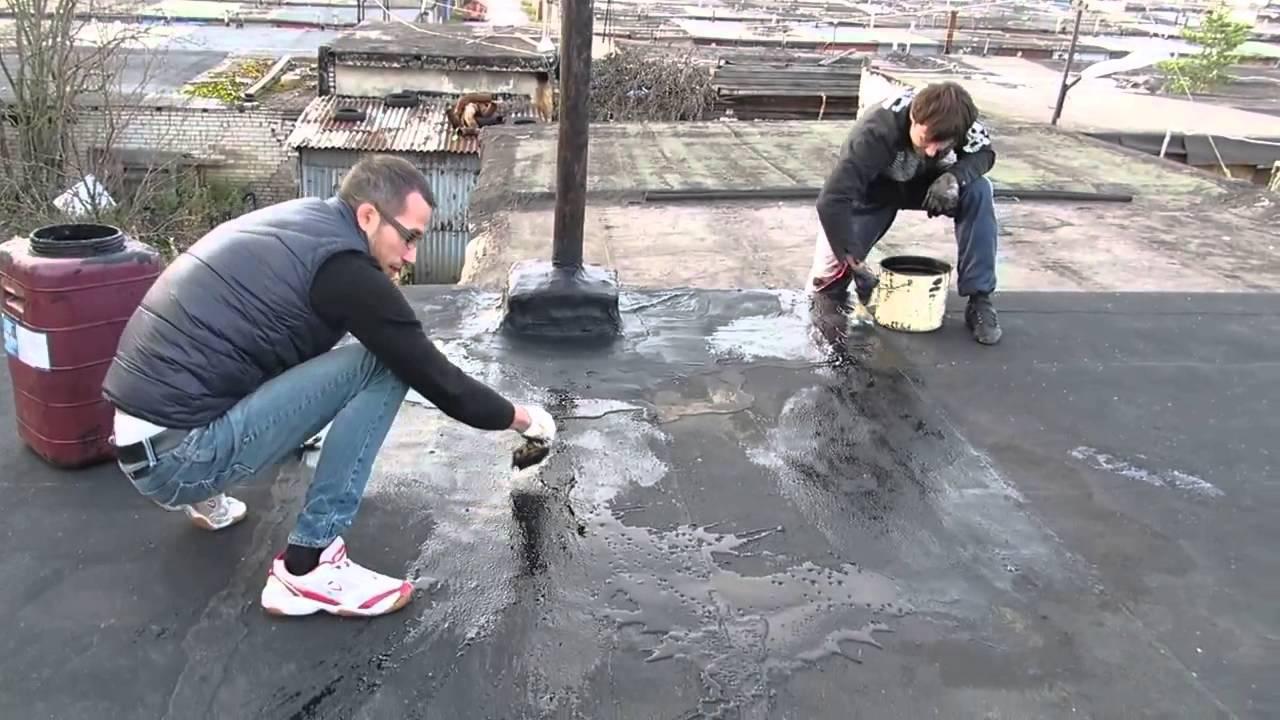 Покрыть крышу гаража гидроизолом своими руками 44