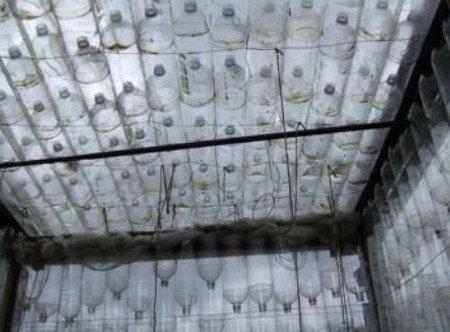 Крыша из пластиковых бутылок