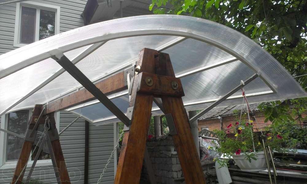 Крыши из поликарбоната своими руками 40