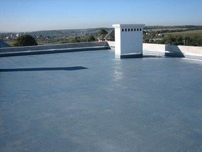 крыша, покрытая гидроизолом