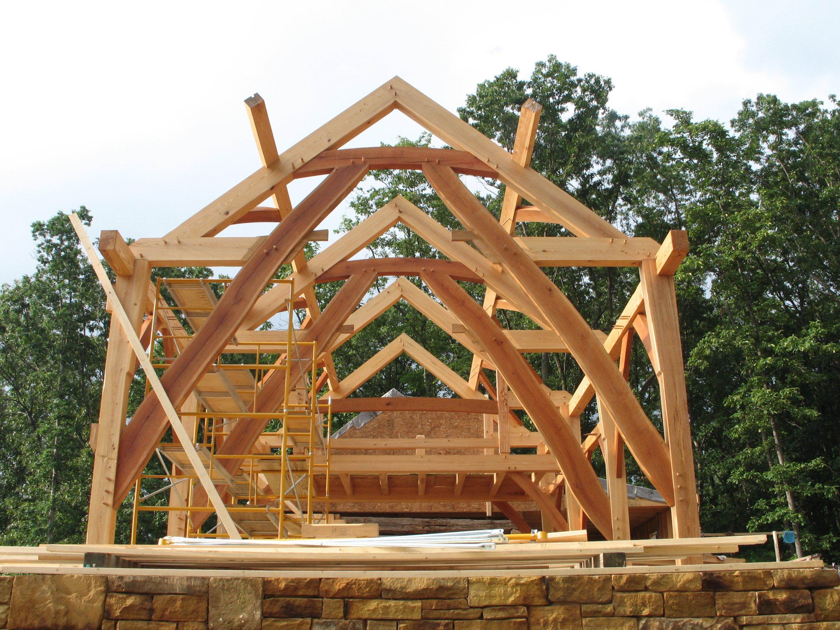 Двухскатная крыша рубленного дома своими руками