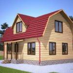 Крыша мансардного типа к деревянному дому
