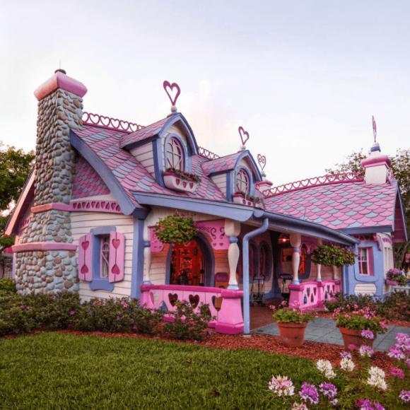 Необычный дом с красивой крышей