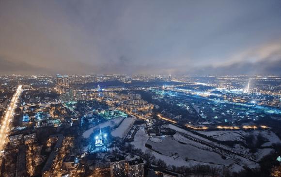 Вид с крыши дома на Мосфильмовской