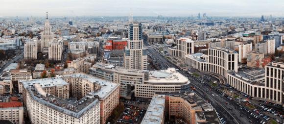 Вид с крыши гостиницы Ленинградской в Москве