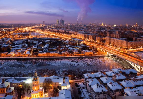 Вид с крыши здания РАН
