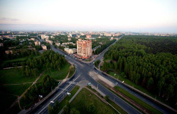 Вид с башни ЦНИИ РТК в Санкт-Петербурге