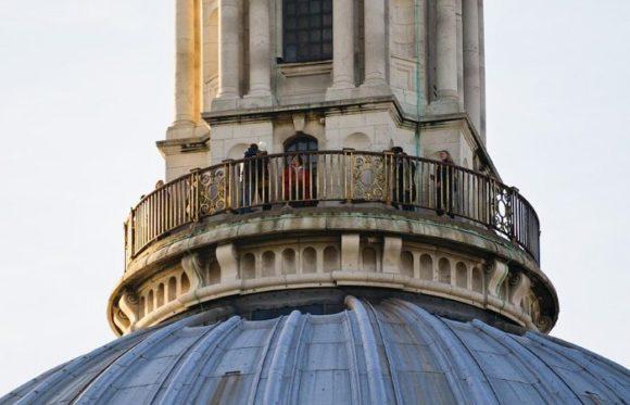 Смотровая площадка на крыше St. Paul's Cathedral в Лондоне