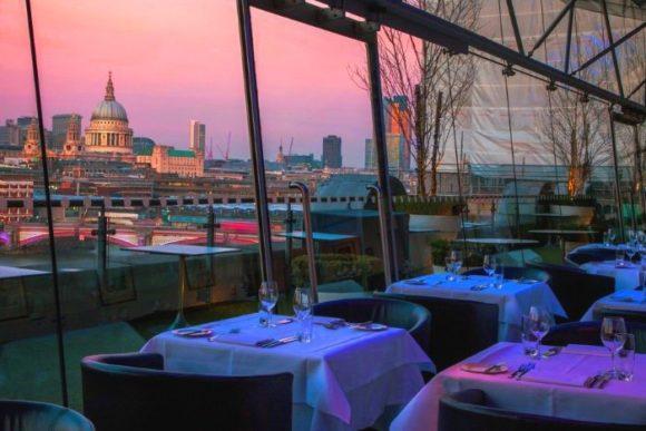 Ресторан со смотровой площадкой OXO Tower в Лондоне