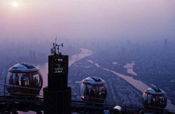 Вид с телебашни Canton Tower