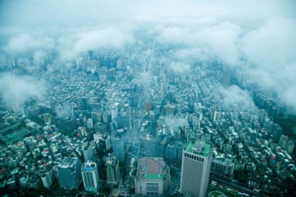 Вид с башни «Тайбэй 101»