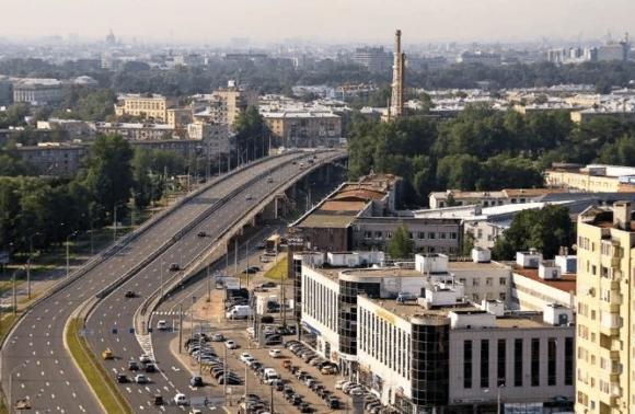 Вид с крыши ЖК Богатырский в Санкт-Петербурге