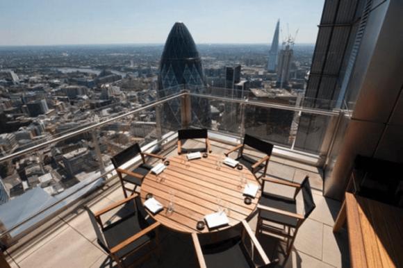 Бар Sushisamba в небоскрёбе Heron Tower в Лондоне