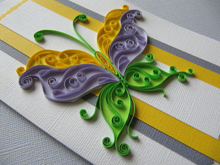 Открытки из бумажных ленточек