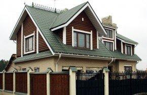 трехскатная крыша в металлочерепице