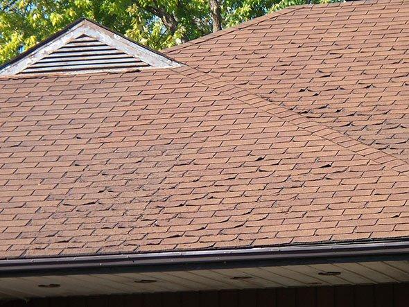 крыша из битумной черепицы