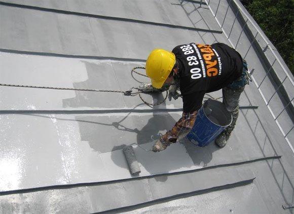 Покраска оцинкованной крыши