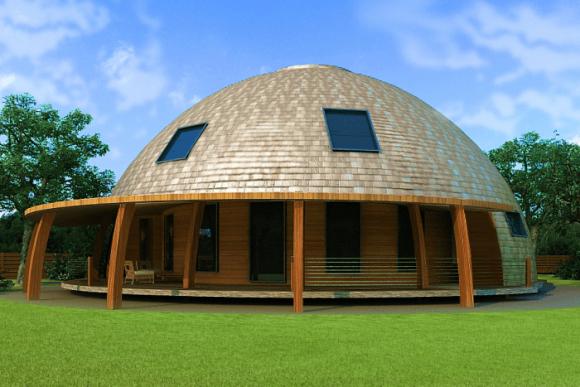 Большой дом с купольной крышей