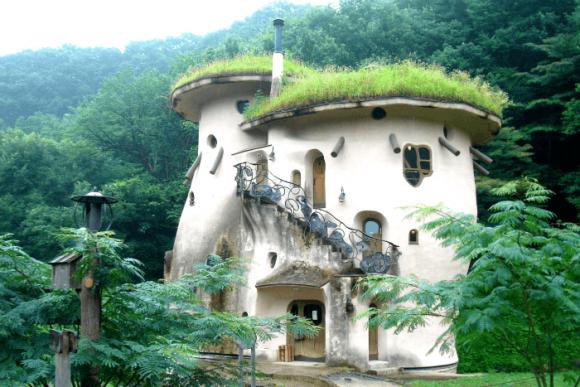 Крыша с травой