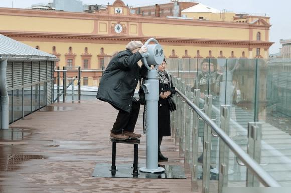 Смотровая площадка на крыше Центрального детского магазина в Москве