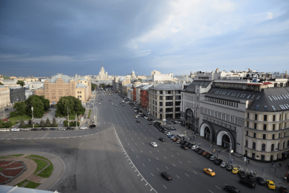 Вид с крыши Центрального детского магазина в Москве
