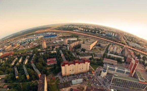 Вид с крыши башни Лидер в Санкт-Петербурге