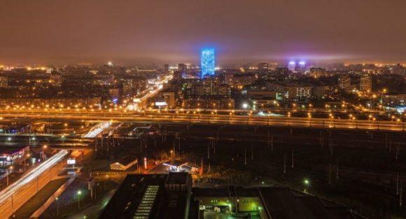 Вид с башни Лидер в Санкт-Петербурге