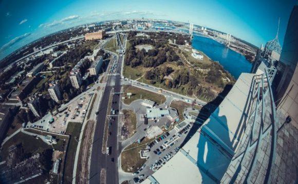 Вид с крыши ЖК Александр Невский в Санкт-Петербурге