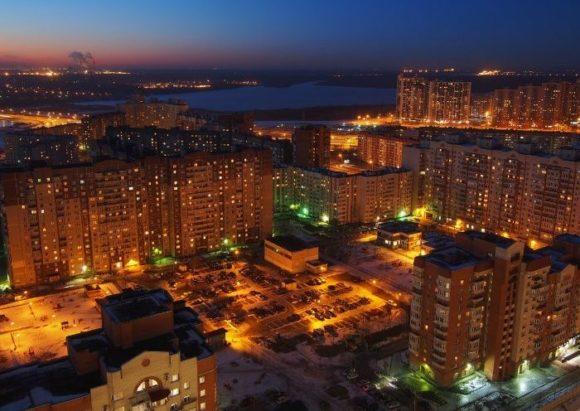 Вид с крыши бизнес-центра Атлантик-сити в Санкт-Петербурге