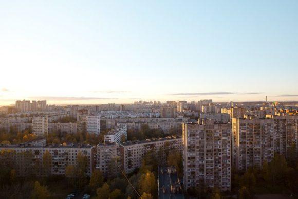 Вид с крыши ЖК Лондон Парк в Санкт-Петербурге