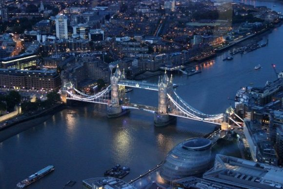 Вид с The Shard London Bridge в Лондоне