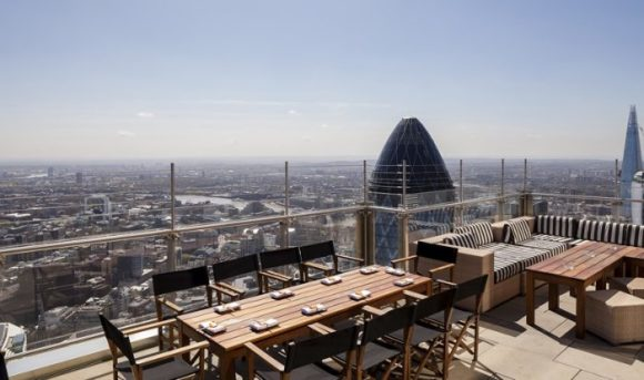 Кафе на крыше Heron Tower в Лондоне