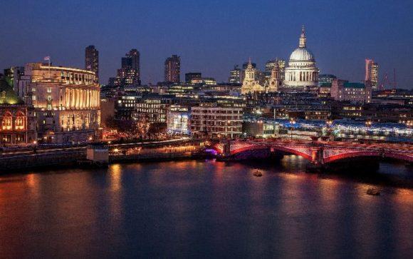 Вид на Лондон со смотровой площадкой OXO Tower