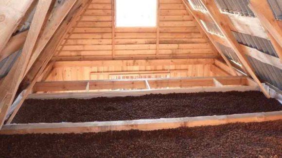 Утепление крыши керамзитом