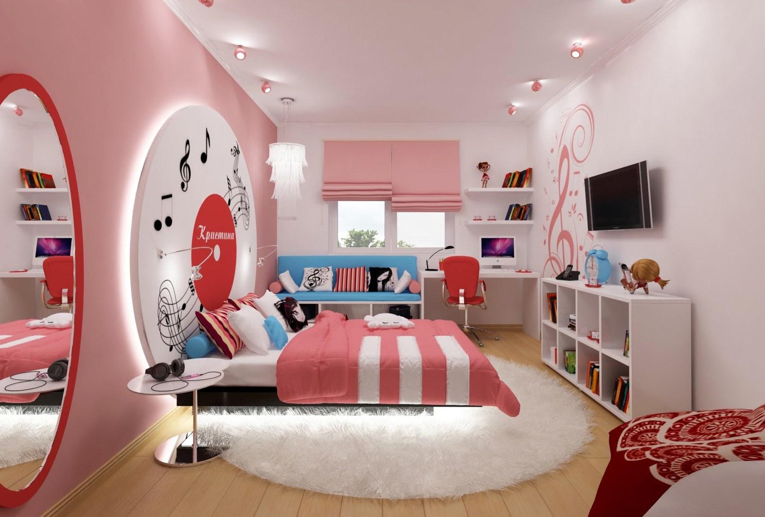 Обои для подростковой комнаты для девочки