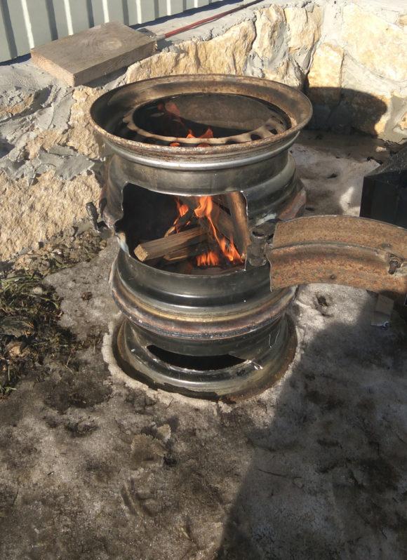 сделать печь из дисков