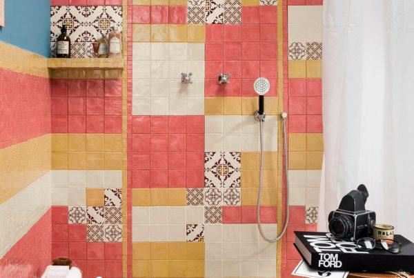 Раскладка плитки методом мозаики