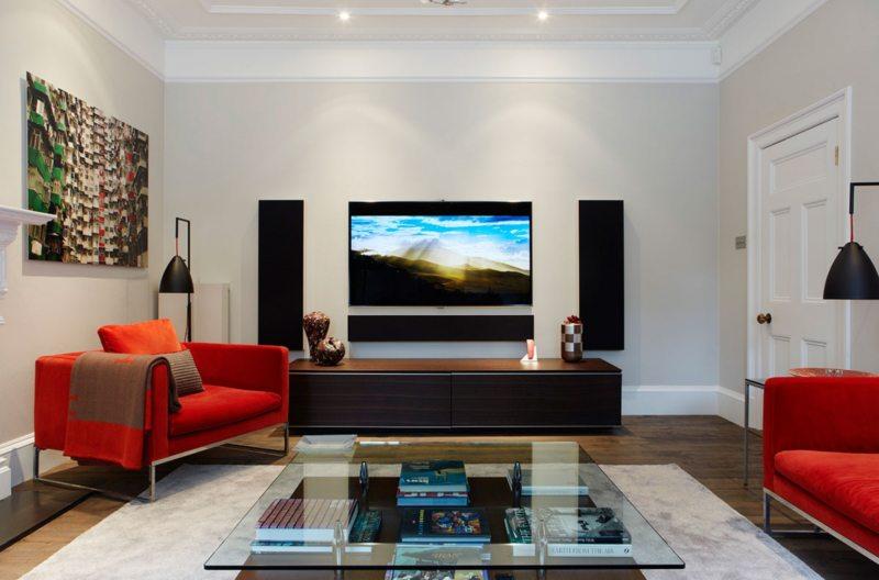 как красиво оформить стену с телевизором фото великое множество
